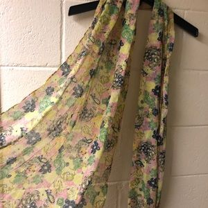 Sheer Floral Scarf from Target